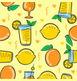 art drink fresh pattern vector image vector image