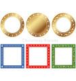 assorted frames for christmas season vector image vector image