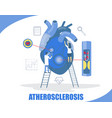 atherosclerosis concept flat style design vector image