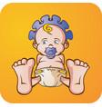 baby boy cartoon character vector image