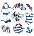 beach time swimsuit vector image vector image