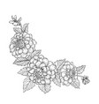 beautiful monochrome black and white bouquet vector image vector image