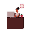 black african american businesswoman secretary vector image vector image