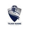 blue shield american football vector image vector image