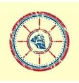 Boat symbol grunge vector image vector image