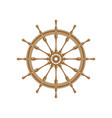 brown ship steering wheel vector image vector image