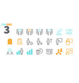 business ui pixel perfect well-crafted thin vector image