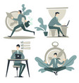 businessman and time management work planning and vector image vector image