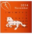 calendar 2014 november vector image vector image