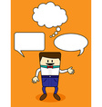 Cartoon with speech bubble vector image vector image