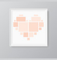collage love heart eight frames photos parts vector image