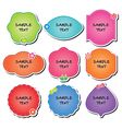 collection labels vector image vector image