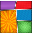 colorful comic concept vector image vector image