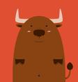 cute fat big Spain bull vector image vector image