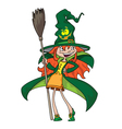 cute witch vector image vector image