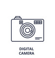 digital camera line icon concept digital camera vector image vector image