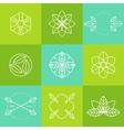 Ecology icons set labels organic natural vector image