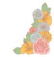 elegant floralcorner card vector image