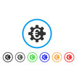 euro machinery gear rounded icon vector image vector image