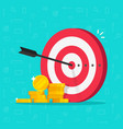financial target goal concept flat cartoon vector image