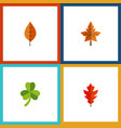 flat icon maple set of foliage frond leaf and vector image vector image