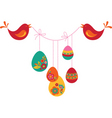 floral Easter banner vector image vector image