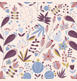floral seamless pattern with flowers and plants in vector image vector image