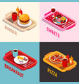 food cooking isometric concept vector image