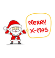 Funny Santa claus and Merry Christmas vector image vector image