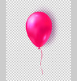 glossy pink balloon realistic air 3d balloon vector image