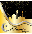 gold and dark islamic style background mosque vector image vector image