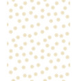 gold tiny snowflakes christmas pattern vector image