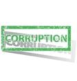 Green outlined CORRUPTION stamp vector image