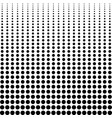 halftone background decreasing black dots vector image vector image