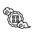 happy mid autumn festival cute mooncake clouds vector image vector image