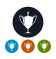 Icon cup of winnericon gold trophy cup vector image vector image