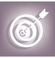 Icon flat target with dart icon vector image vector image
