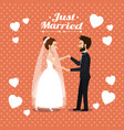 just married couple dancing avatars characters vector image vector image