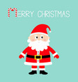 merry christmas santa claus happy new year white vector image vector image