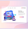 modern flat design isometric concept of online vector image