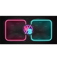 neon screen and banner versus battle glow pink vector image