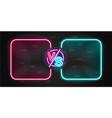 Neon screen and banner versus battle glow pink