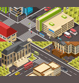 official buildings isometric banners vector image vector image