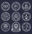 old brewery logos set kraft beer retro signs vector image