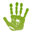 Old man green hand print vector image vector image