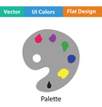 Palette icon vector image vector image