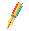 pen with arrow vector image vector image