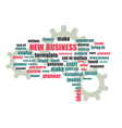 Pnew business wordcloud vector image vector image