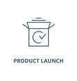 product launch line icon linear concept vector image vector image