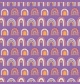 rainbows boho hand drawn seamless pattern vector image vector image